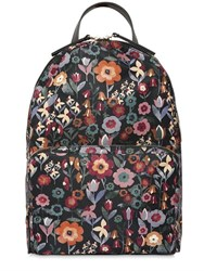 Red Valentino Floral Printed Nylon Backpack