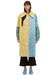 Acne Studios Bertilyn Leopard Print Coat Yellow