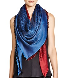 Liberty London Iphis Jacquard Square Scarf Teal