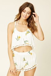 Forever 21 Floral Swim Cover Up Shorts