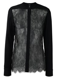 La Perla 'Leisuring' Lace Detail Shirt Black