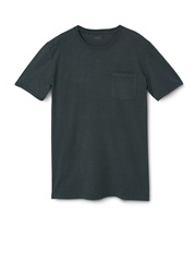 Mango Gary Cotton Pocket T Shirt Mid Grey