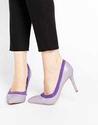 Ax Paris Marly Heeled Court Shoes Purple
