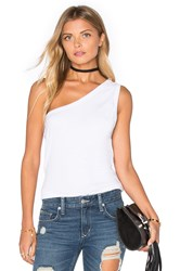 Zulu And Zephyr Scope One Shoulder Tank White