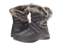 The North Face Thermoball Microbaffle Bootie Ii Shiny Tnf Black Smoked Pearl Grey Women's Pull On Boots