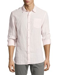 Jachs Linen Long Sleeve Sport Shirt Pink