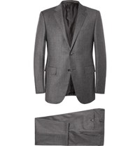 Ermenegildo Zegna Grey Slim Fit Trofeo Wool And Cashmere Blend Suit Gray
