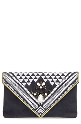Shiraleah 'Micha' Embellished Velvet Envelope Clutch