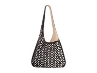 Elizabeth And James Courier Bag W Rivets Black Hobo Handbags