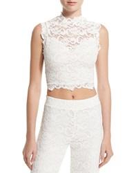 Nightcap Clothing Dixie Sleeveless Lace Crop Top Ecru