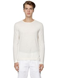 Z Zegna Organic Cotton And Bio Linen Pique Sweater