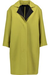 Roland Mouret Paddington Wool Gauze Coat Chartreuse