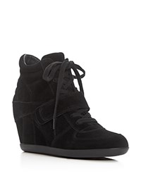 Ash Bowie Lace Up Wedge Sneakers Black