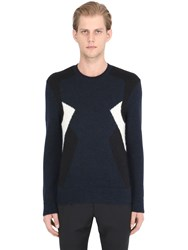 Neil Barrett Intarsia Alpaca Wool Blend Sweater