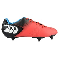 Canterbury Of New Zealand Control Club 6 Stud Rugby Boots Red Black