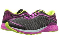 Asics Dynaflyte Black Pink Glow Safety Yellow Women's Running Shoes