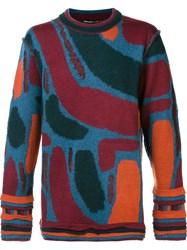Issey Miyake Abstract Pattern Sweater Multicolour
