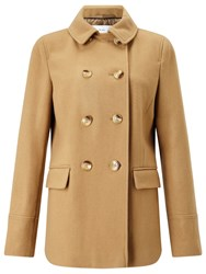 John Lewis Double Breasted Pea Coat Camel