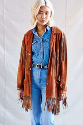 Urban Renewal Vintage Rusty Suede Fringe Jacket Assorted
