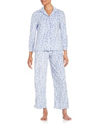 Karen Neuburger Printed Shirt Pants And Socks Pajama Set Purple