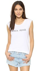 Rebecca Minkoff Beach Please Muscle Tee White Black