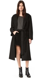 Oak Belted Overcoat Black