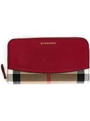 Burberry House Check Wallet Red