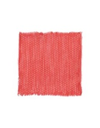 Obvious Basic By Paolo Pecora Square Scarves Red