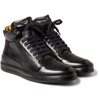 Berluti Playtime Leather High Top Sneakers
