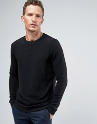 Jack And Jones Premium Sweat In Rib Black
