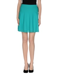 D.Exterior Knee Length Skirts Turquoise
