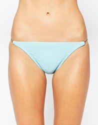 Vince Camuto Bikini Bottom With Chain Detail Blue