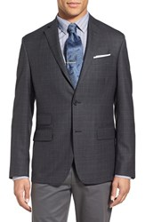 Nordstrom Men's Men's Shop Classic Fit Plaid Wool Sport Coat