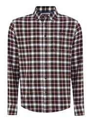 Criminal Penvale Small Checked Shirt Berry