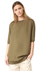 Vince Rib Trimmed Tunic Fatigue