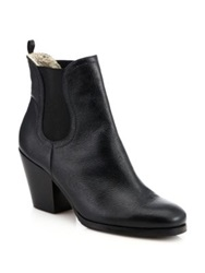 Rachel Comey Nassau Faux Shearling Lined Chelsea Booties Black