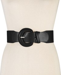 Styleandco. Style Co. Double Keeper Lizard Embossed Stretch Belt Only At Macy's Black