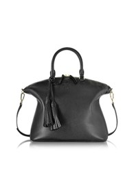 Tory Burch Thea Pebbled Leather Medium Slouchy Satchel Black