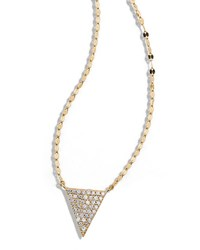 Lana 14K Fatale Diamond Spike Charm Necklace