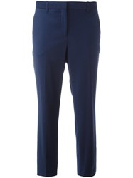 Theory Cropped Tailored Trousers Blue