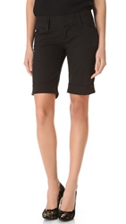 Alice Olivia Cuffed Bermuda Shorts Black