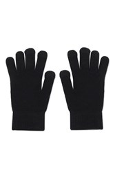 Topshop Touch Screen Knitted Gloves Black