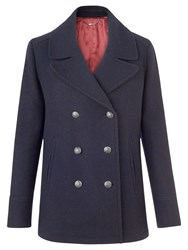Jigsaw Pea Coat Navy