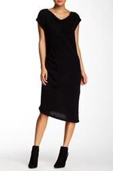 Cullen Sleeveless Side Ruched Cashmere Sweater Dress Black
