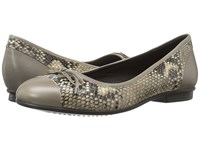 Ecco Touch Ballerina Bow Stone Sand Women's Flat Shoes Bone