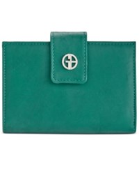 Giani Bernini Wallet Sandalwood Leather Wallet Deep Green