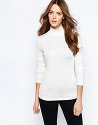 Selected Melissa Turtleneck Top In White Selected Melissa Tu