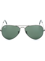 Ray Ban Ray Ban Aviator Frame Sunglasses Black
