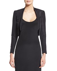 Carolina Herrera Silk Faille Bolero Jacket Black