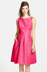 Alfred Sung Women's Dupioni Fit And Flare Dress Sangria